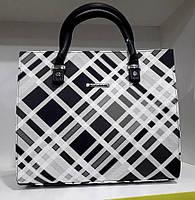 Женская сумка Dolly 464 классическая в клетку среднего размера Черный