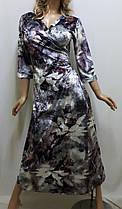 Велюровый халат большого размера ,от 50 до 56, фото 3