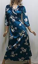 Велюровый халат большого размера ,от 50 до 56, фото 2
