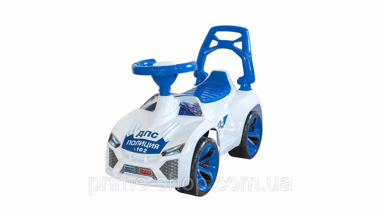 Машинка для катания ЛАМБО Полиция белая, ТМ Орион