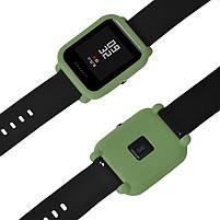 Amazfit Bip Защитный силиконовый чехол для смарт часов, Green, фото 5