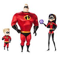 Эксклюзивный набор игушек Суперсемейка 2, Мистер Исключителный, Шастик, Фиалка Disney