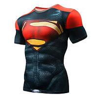 Мужская футболка для фитнеса Супермен, красный