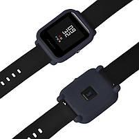 Amazfit Bip Защитный силиконовый чехол для смарт часов, Navy blue, фото 5