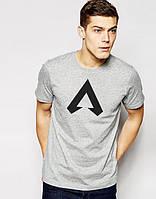 Серая футболка Апекс Легенд Apex Legends (РЕПЛИКА)
