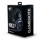 Навушники професійні ігрові з мікрофоном та підсвіткою HAVIT HV-H2006U, 7.1 USB, black, фото 5
