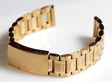 Браслет для годинника ELITE з нержавіючої сталі, 18 мм. Золото