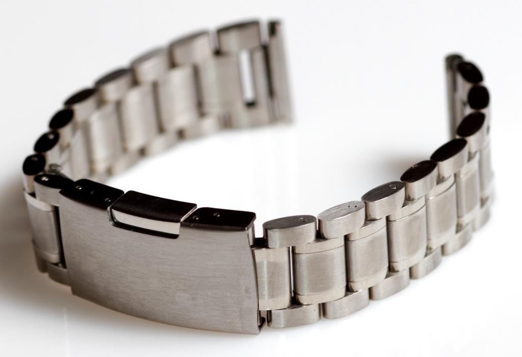 Браслет для часов ELITE из нержавеющей стали, 18 мм. Серебро