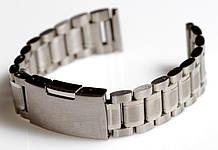 Браслет для годинника ELITE з нержавіючої сталі, 18 мм. Срібло