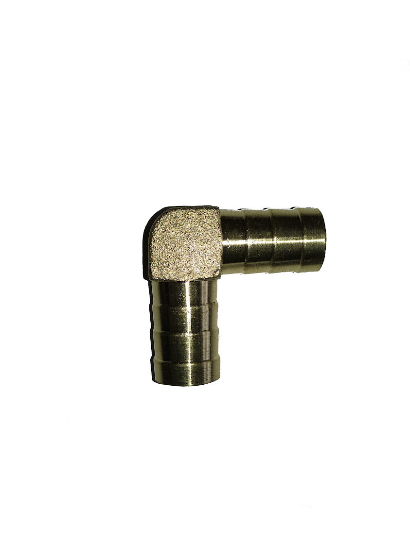 Уголок латунный для шланга 10 мм