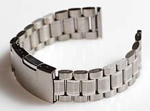 Браслет для годинника ELITE з нержавіючої сталі, 20 мм. Срібло
