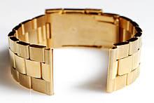 Браслет для годинника ELITE з нержавіючої сталі, 22 мм. Золото