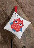 """Набор для вышивания крестом ТМ Permin """"Подушечка Красная сова (Pincushion, red owl)"""" 03-7393"""