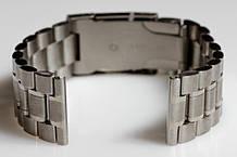 Браслет для годинника ELITE з нержавіючої сталі, 22 мм. Срібло