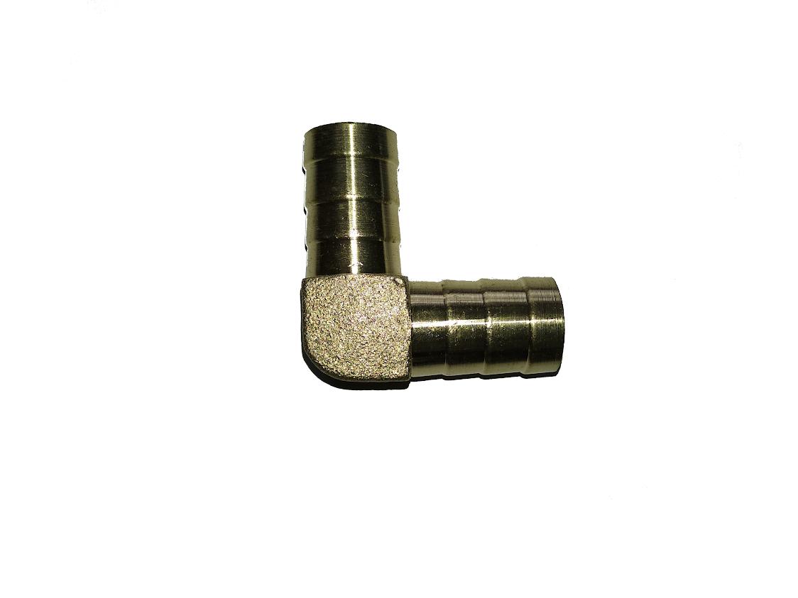 Уголок латунный для шланга 14 мм