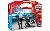 Playmobil 5648 Полицейский на мотоцикле кейс