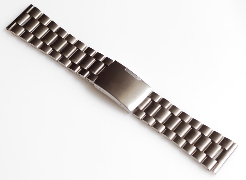 Браслет для годинника ELITE з нержавіючої сталі, 24 мм Срібло