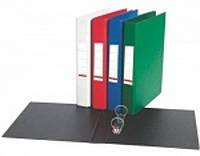 Папка A5 пластик 2 кольца, Optima O35440 двухцветная, синяя с черным уп10