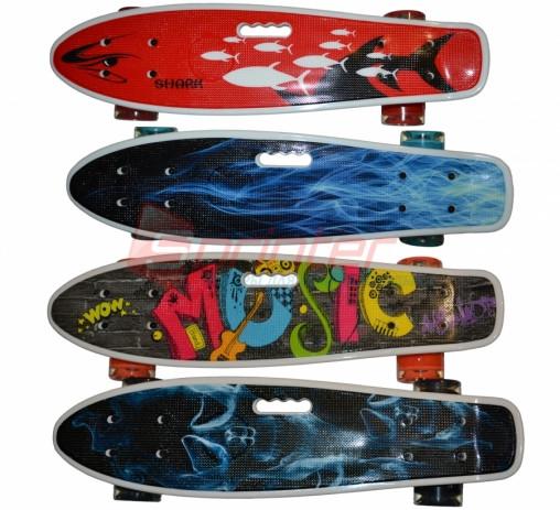Скейт пластиковый с прорезью для руки.