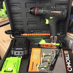 Аккумуляторный шуруповерт Stromo SA214Li 21V 2Ah