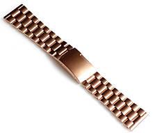 Браслет для годинника ELITE з нержавіючої сталі, 24 мм. Золотистий
