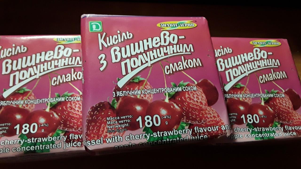 Кисель вкус Вишнёво - Клубничный  180 грамм