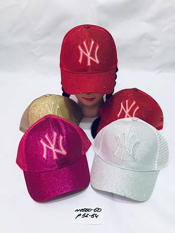 Летняя кепка для девочки Блестящая р.52-54, фото 2