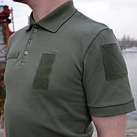 Поло ЗСУ олива Premium Cotton (100% ХБ)