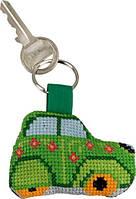 """Набор для вышивания крестом ТМ Permin """"Брелок Зеленый Ситроен (Green Citroén)"""" 11-6115"""