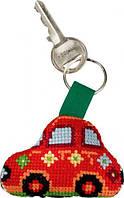 """Набор для вышивания крестом ТМ Permin """"Брелок Красный Фиат (Red Fiat)"""" 11-6114"""