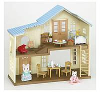 Домик с кошечками и дополнениями Sylvanian Families Hillcrest Home