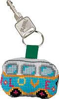 "Набор для вышивания крестом ТМ Permin ""Брелок Любовь Фольцваген (VW love)"" 11-6113"