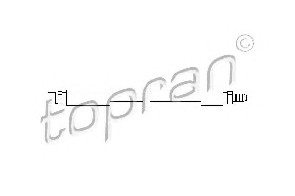 Тормоз.шланг зад. Audi 100/A6 Quattro (91-97) L=205m