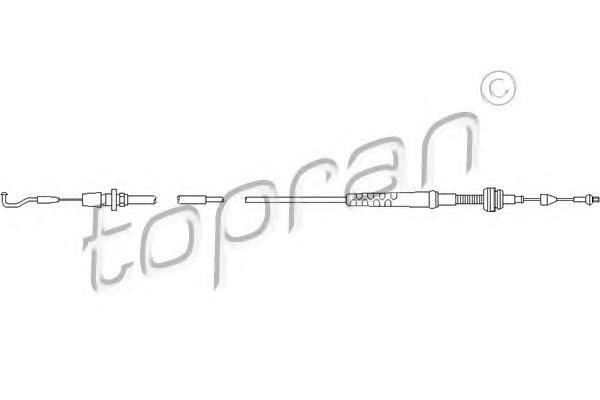 Трос газа VW Golf 2/B-3 1.3/1.6/1.8E L=1068mm