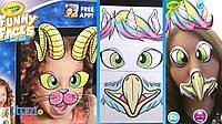 Интерактивная раскраска Крайола Смешные Лица Crayola Funny Faces