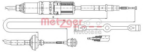 Трос сцепления VW T-4 1.9/2.4D
