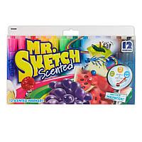 Mr.Sketch Ароматизированные фломастеры 12 цветов Scented Markers Chisel Tip