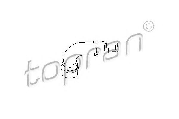Трубка відведення кар.газів Audi A4/A6 1.8 T VW B-5/Golf 4 1.8 T SK Octavia/SuperB Topran 111 158