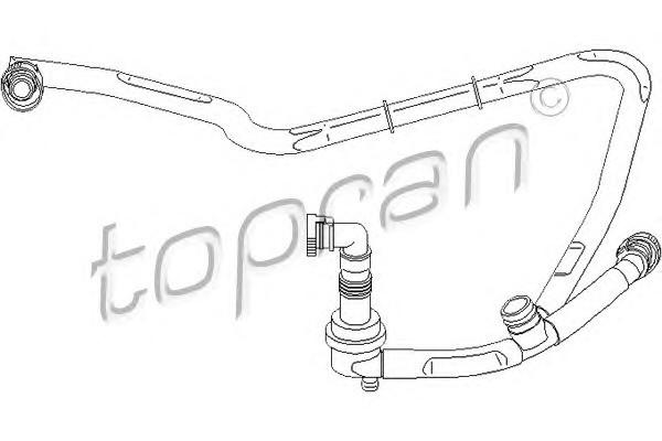 Трубка отвода кар.газов Audi A4/A6 2.4/2.8E (97>) VW B-5 2.8E Topran 111 303