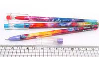 """Ручка стираемая 5742 -5764 """"Узор"""" со стразами синяя (исчезающие температурные чернила) уп12 бл144"""