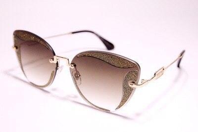 Солнцезащитные очки Miu Miu бабочка коричневые