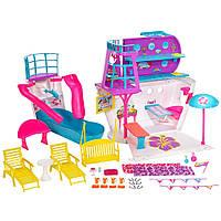 Barbie Барби круизный лайнер с куклами и аксессуарами Cruise Ship Playset