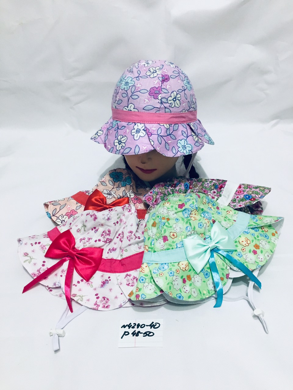 Летняя панамка для девочки в цвеочек р.48-50