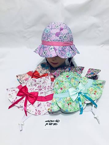 Летняя панамка для девочки в цвеочек р.48-50, фото 2