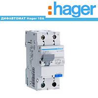Дифференциальный автомат Hager 10A 30mA 6kA AD960J