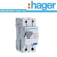 Дифференциальный автомат Hager 16A 30mA 6kA AD966J