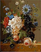 Картина раскраска по номерам на холсте 40*50см Babylon VP094 Роскошные цветы
