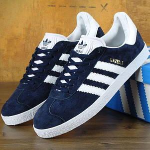 Мужские кроссовки Adidas Gazelle Navy Blue