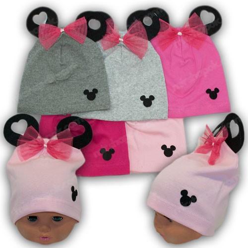 Шапки для малышей с ушками