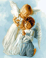 Картина раскраска по номерам на холсте 40*50см Babylon VP434 Ангельские дети